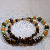 back off tigers eye necklace