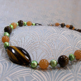 tigers eye unique necklace uk crafted
