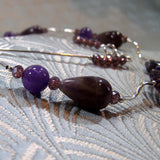 deep purple amethyst beads