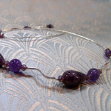 amethyst and sterling silver beads