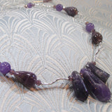 amethyst necklace, handmade gemstone jewellery necklace, amethyst jewellery uk