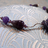 sterling silver amethyst gemstone beads