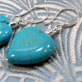 turquoise gemstone bead heart shaped