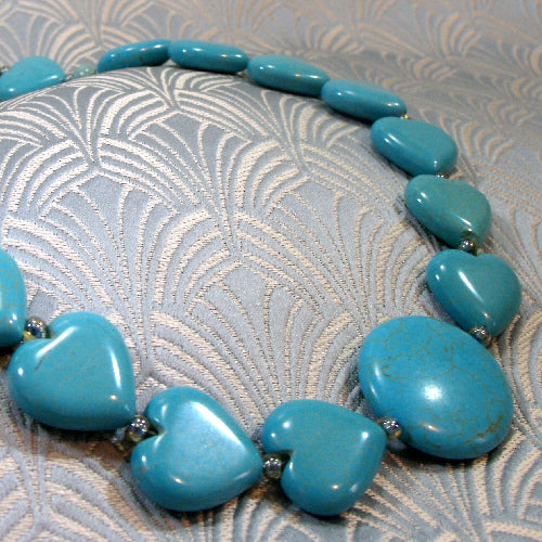 turquoise jewellery, semi-precious gemstone necklace jewellery, turquoise jewellery uk