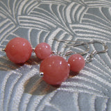 short drop gemstone earrings