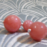 coral pink gemstone earrings