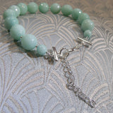 gemstone bracelet with exyending clasp