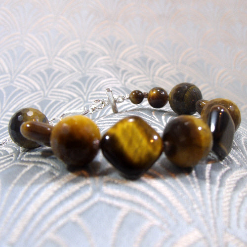 tigers eye bracelet jewellery, unique handmade gemstone jewellery bracelet uk