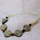 unique handmade gemstone necklace jade