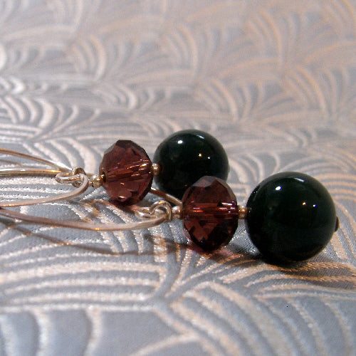 long agate earrings uk, semi-precious gemstone jewellery handmade uk