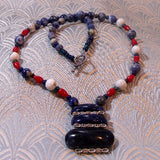 unique sodalite gemstone necklace