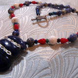 sodalite semi-precious stone jewellery necklace