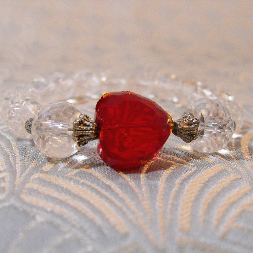 handmade jewellery uk, crystal stretch bracelet, handmade bracelet jewellery uk