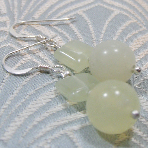 handmade jewellery, jade earrings uk jewellery, semi-precious stone jewellery earrings