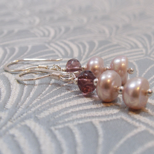 freshwater pearls uk, handmade jewellery, handcrafted earring jewellery uk