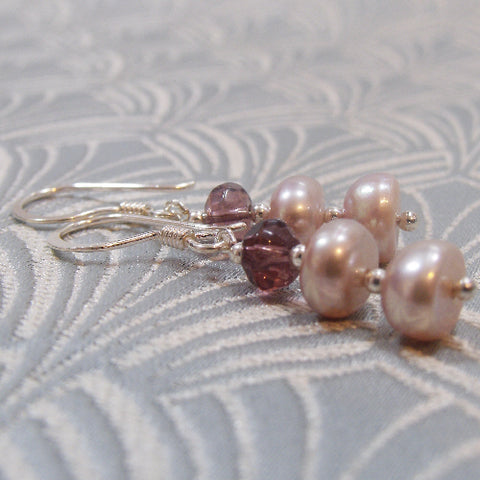 Unique Pearl Handmade Earrings UK, Handcrafted Pearl Drop Earrings