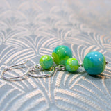 glass bead earrings uk