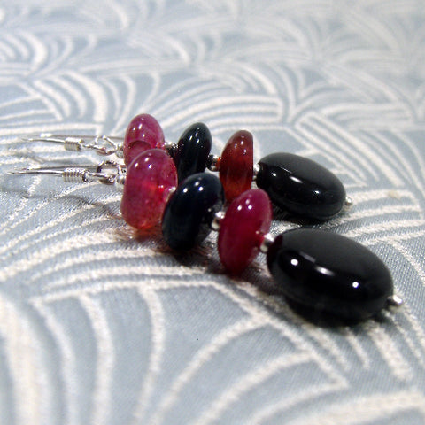 Semi-Precious Stone Earrings UK, Unique Handmade Earrings Design