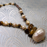 semi-precious tigers eye necklace design
