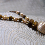 tigers eye pearl necklace