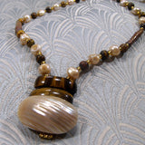 tigers eye necklace, unique handcrafted necklace uk, tigers eye jewellery handmade uk