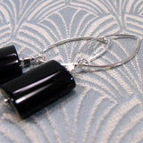 black gemstone earrings uk
