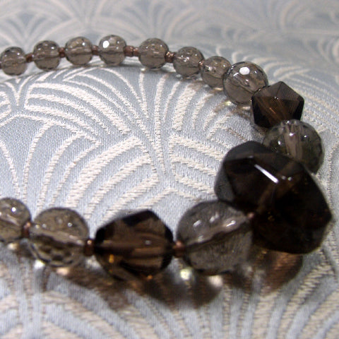 Unique Smoky Quartz Bracelet (D9)