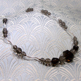 smoky quartz necklace uk