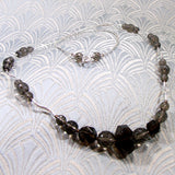 sterling silver smoky quartz gemstone necklace