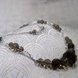 smoky quartz semi-precious gemstone necklace