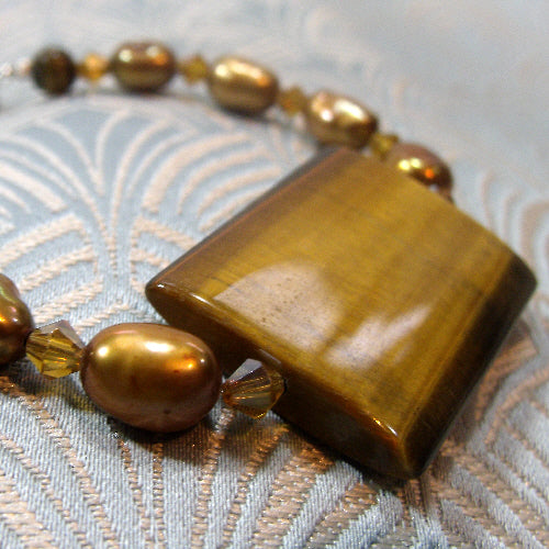 tigers eye bracelet, handcrafted jewellery bracelet. semi-precious gemstone jewellery uk