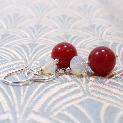semi-precious gemstone earrings, handmade gemstone jewellery, unique handcrafted earrings