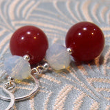 handmade earrings semi-precious gemstones