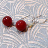 gemstone drop earrings handmade uk