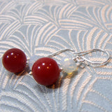semi-precious gemstone handmade earrings