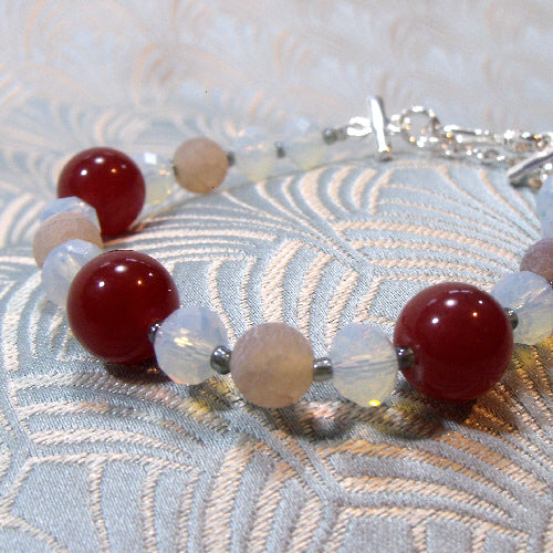 handmade bracelet, semi-precious stone jewellery bracelet, unique handcrafted jewellery uk