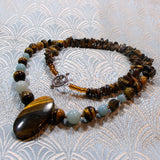 tigers eye necklace unique gemstone jewellery
