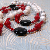 long semi-precious gemstone necklace uk crafted