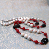 longer length semi-precious necklace