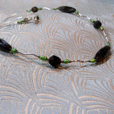 smoky quartz gemstone necklace