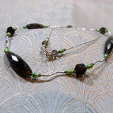 semi-precious gemstone necklace handmade smoky quartz