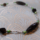 smoky quartz jewellery uk, semi-precious necklace uk, handmade jewellery design