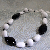 black white necklace handmade uk