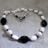 black white semi-precious necklace