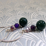 long drop semi-precious stone earrings