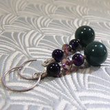 long dangle gemstone earrings handmade agate