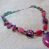 pink purple gemstone beads