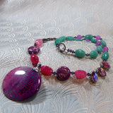 unique gemstone necklace handmade uk