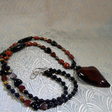 long necklace handmade agate