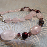 Rose Quartz Stone Necklace (A78)